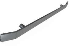 """Flat Handrail (3/8"""" x 2"""") with return ends"""